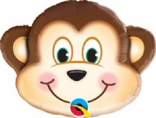Mischievous Monkey Super Shape Foil Balloon